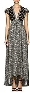 Philosophy di Lorenzo Serafini Women's Floral Crepe & Lace Maxi Dress - Black