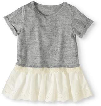 Cherokee Knit Top with Eyelet Hem (Little Girls and Big Girls)