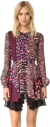 Just Cavalli Animal Patch Dress $790 thestylecure.com
