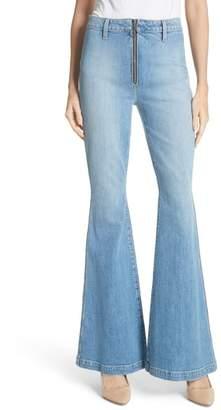Alice + Olivia AO.LA by AO.LA Beautiful Exposed Zip Bell Bottom Jeans