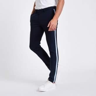 River Island Navy tape side skinny smart pants