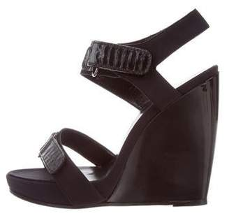 Pierre Hardy Ankle-Strap Wedge Sandals