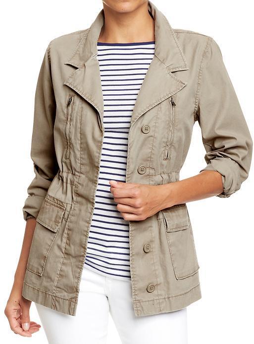 Old Navy Women's Long Canvas Field Jackets