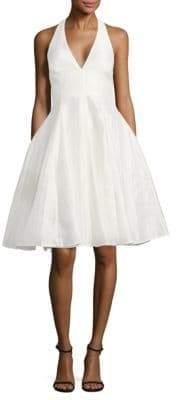 Halston Fit-&-Flare Halterneck Dress