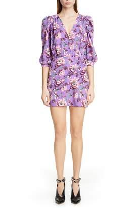 Magda Butrym Faro Floral Print Silk Dress