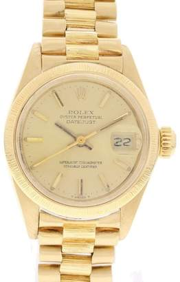 Rolex Vintage Datejust 6927 18K Yellow Gold & Gold Dial 26mm Womens Watch