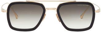 Dita Gold and Black Flight Sunglasses