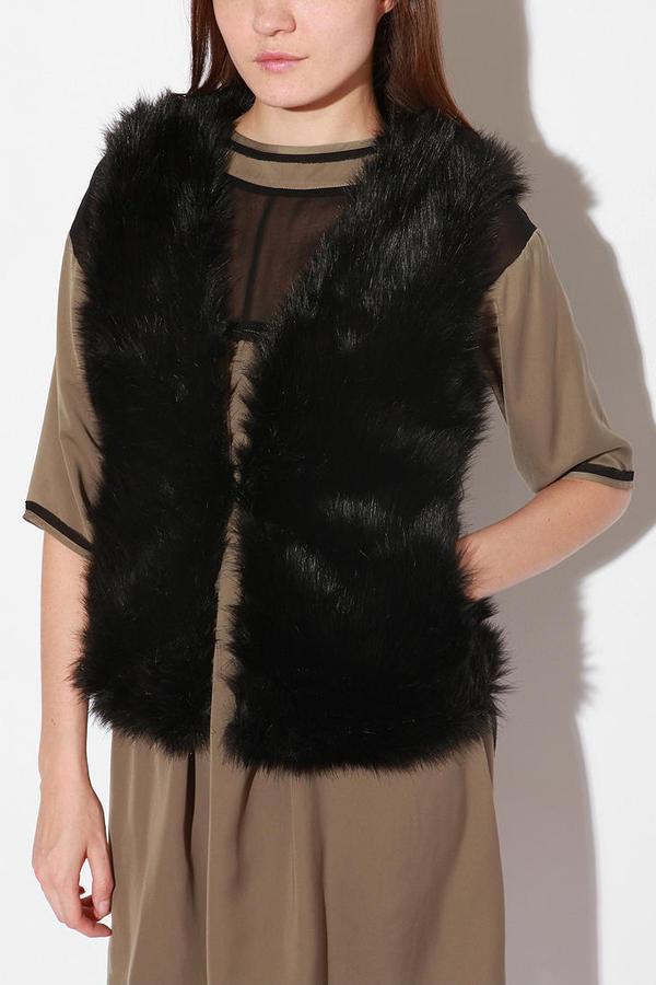 Urban Outfitters Alpine Faux Fur Vest