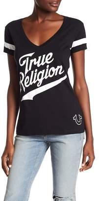 True Religion Athletic Deep V-Neck Tee