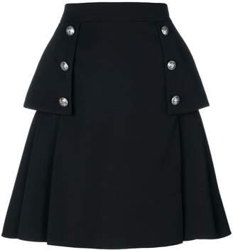 Alexander McQueen buttoned A-line skirt