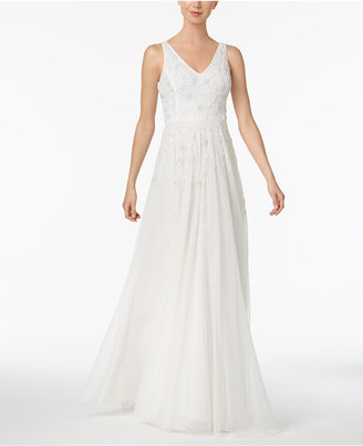 Adrianna Papell Beaded A-Line Gown $379 thestylecure.com