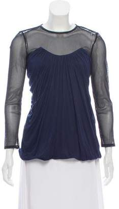 Yigal Azrouel Long Sleeve Pleated Top