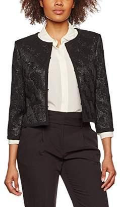 Jacques Vert Women's Jacquard Item Jacket, (Black)