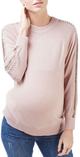 TopshopWomen's Topshop Lattice Stud Maternity Sweater