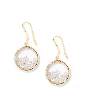 Aurelie Bidermann Diamond& 18K Yellow Gold Chivor Earrings