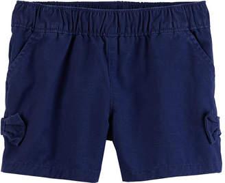 Carter's Twill Bow Detail Pull-On Shorts Preschool Girls