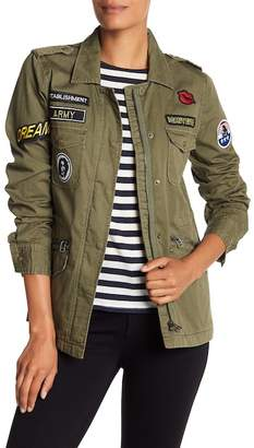 Velvet by Graham & Spencer Patch Detail Army Jacket