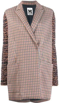 M Missoni panel sleeve houndstooth coat