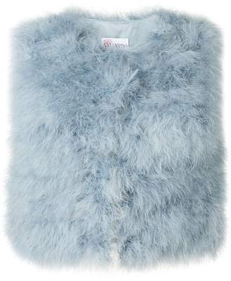 RED Valentino marabou cropped gilet