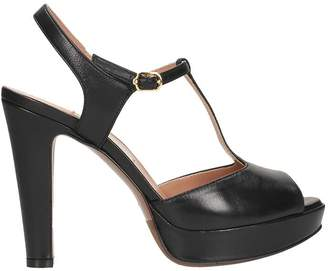 L'Autre Chose Plateau Black Sandals