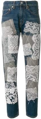 Junya Watanabe patch detail straight leg trousers
