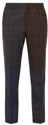 Stella McCartney Checked Wool Trousers - Mens - Brown Multi