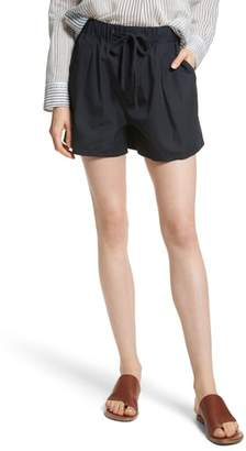 Vince Drawstring Cotton Shorts