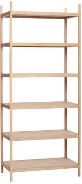 Hébsch 6 Level Oak Shelf