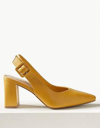 Marks and Spencer Leather Slingback Shoes