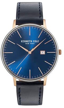 Kenneth Cole New York Analog KC15059004 Goldtone Leather Strap Watch