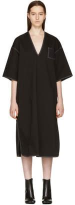 MM6 Maison Martin Margiela Black Dyed Kimono Dress