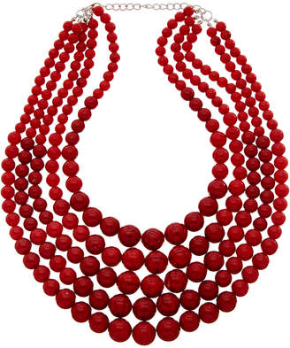 Kenneth Jay Lane 22K Plated Glass Bead Necklace
