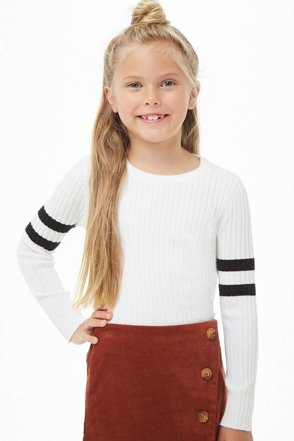 Forever 21 Girls Ribbed Varsity Sweater (Kids)