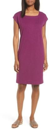 Women's Eileen Fisher Hemp & Organic Cotton Square Neck Shift Dress $158 thestylecure.com