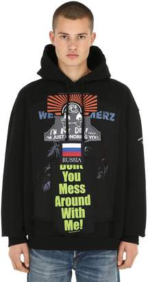 Vetements Oversized Patchwork Sweatshirt Hoodie