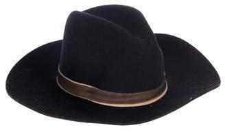 Janessa Leone Wool Wide Brim Hat