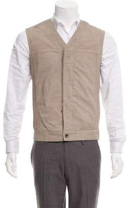 Rick Owens Leather Button-Up Vest w/ Tags