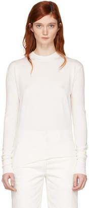 Studio Nicholson Ivory Solo Crewneck Sweater
