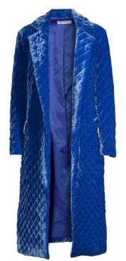 Robert Rodriguez Quilted Washed Velvet Coat