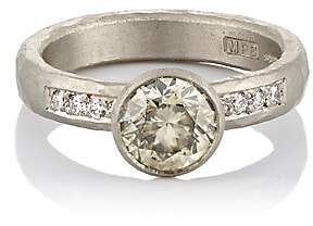 Malcolm Betts Women's Mixed-Diamond Ring