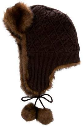 Barneys New York Barney's New York Knit Trapper Hat