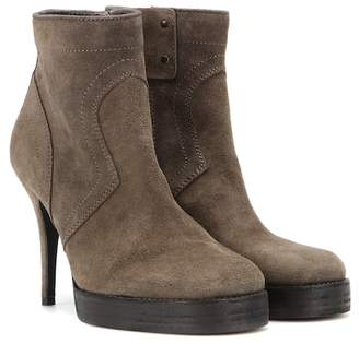 Rick Owens Suede ankle boots