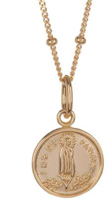Argentovivo Gold Plated Sterling Silver Small Pendant Necklace