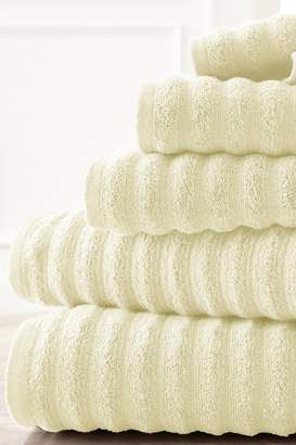 Amrapur Luxury Spa Collection Wavy Quick Dry 6-Piece Towel Set - Ivory