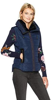 Desigual Women's Salva Woman Woven Padded Short Overcoat