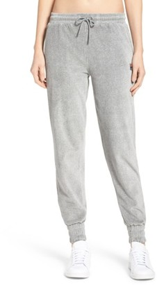 Women's Fila Jodi Velour Jogger Pants $68 thestylecure.com