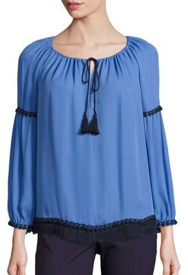 Tory Burch Tory Burch Long Sleeve Silk Top