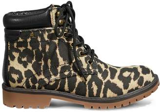 Call it SPRING Vegan Sonney Animal-Print Ankle Boots