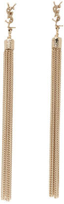 Saint Laurent Gold Loulou Tassel Earrings