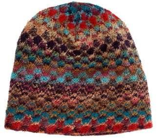 Missoni Chevron Knit Beanie Tan Chevron Knit Beanie